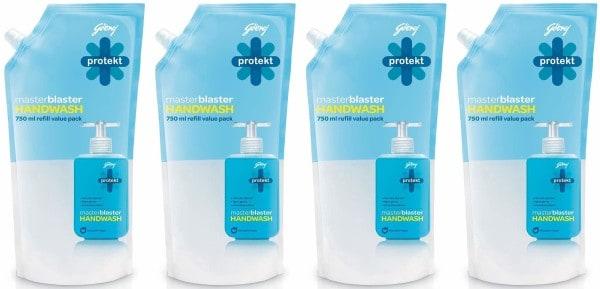 Godrej Protekt Master Blaster Hand Wash (750ML, Pack of 4)