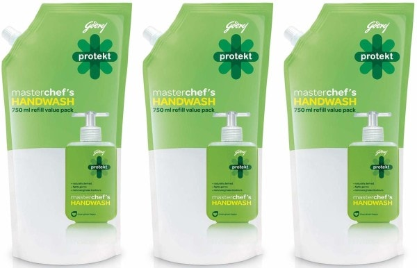 Godrej Protekt Masterchefs Hand Wash (750ML, Pack of 3)