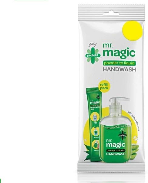 Godrej Protekt Mr. Magic Powder to Liquid Hand Wash (9GM, Pack of 10)