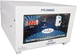 Pulstron PTI-5460D 5 KVA Automatic Voltage Stabilizer (Grey)