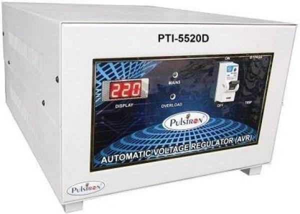 Pulstron PTI-5520D 5 KVA Automatic Voltage Stabilizer (Grey)