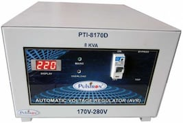 Pulstron PTI-8170D 8 KVA Automatic Voltage Stabilizer (Grey)