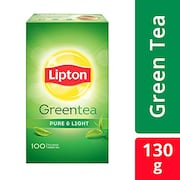 Lipton Pure And Light Green Tea (130GM, 100 Pieces)
