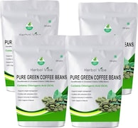 Herbal Vibe Pure Green Beans Coffee (Green Coffee, 200GM, Pack of 4)