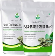 Herbal Vibe Pure Green Beans Coffee (Green Coffee, 100GM, Pack of 2)