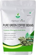 Herbal Vibe Pure Green Beans Coffee (Green, 100GM)