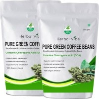 Herbal Vibe Pure Green Beans Coffee (Green Coffee, 200GM, Pack of 2)