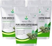 Herbal Vibe Pure Green Beans Coffee (Green, 100GM, Pack of 3)