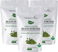 Herbal Vibe Pure Green Beans Powder Coffee (Green Coffee, 100GM, Pack of 3)