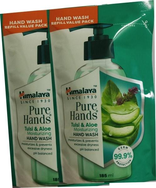 Himalaya Pure Hands Tulsi and Aloe Moisturizing Hand Wash (185ML, Pack of 2)