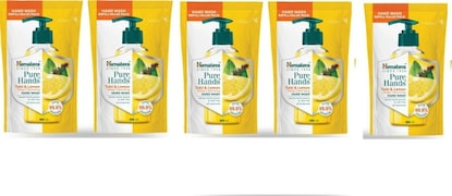 Himalaya Pure Hands Tulsi and Lemon Deep Cleansing Hand Wash (185ML, Pack of 5)