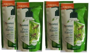 Himalaya Pure Hands Tulsi Purifying Hand Wash (185ML, Pack of 4)