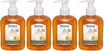 Himalaya PureHands Orange Hand Sanitizer (250ML, Pack of 4)