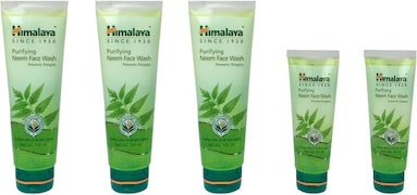 Himalaya Purifying Neem Face Wash (100ML, Pack of 5)
