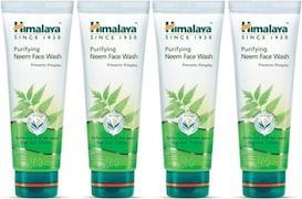 Himalaya Purifying Neem Face Wash (100ML, Pack of 4)