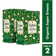 Typhoo Purifying Super Green Organics Herbal Tea (30GM, Pack of 2, 20 Pieces)