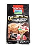 Loacker Quadratini Bite Size Wafers (Dark Chocolate, 125GM)
