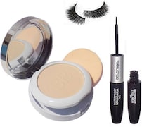 Colorbar Radiant White Uv Fairness Compact With Eye Liner And Mascara (Pack of 3)