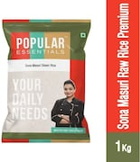Popular Essentials Raw Premium Sona Masuri Rice (1KG)