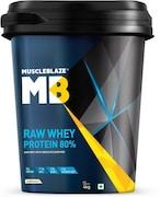 MuscleBlaze Raw Whey Protein (Unflavoured, 4KG)