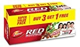Dabur Red Gel Toothpaste (200GM, Pack of 4)
