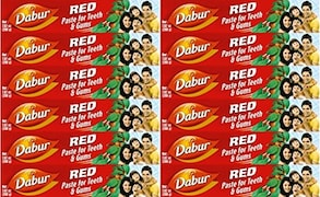 Dabur Red Paste For Teeth and Gums Toothpaste (100ML, Pack of 12)