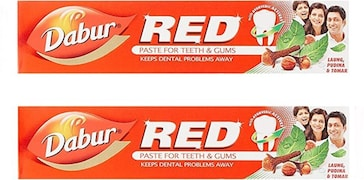 Dabur Red Paste For Teeth and Gums Toothpaste (100GM, Pack of 2)