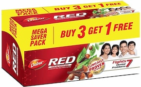 Dabur Red Toothpaste (150GM, Pack of 4)