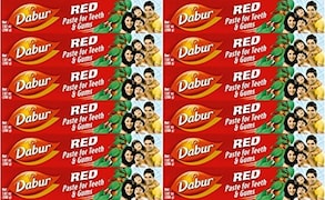 Dabur Red Toothpaste (200GM, Pack of 12)