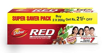 Dabur Red Toothpaste (200GM, Pack of 2)