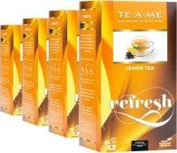TE-A-ME Refresh Lemon Black Tea (50GM, Pack of 4, 100 Pieces)