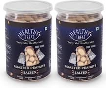 Healthy Treat Roasted Peanuts Namkeen (Salred, 200GM, Pack of 2)