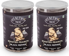 Healthy Treat Roasted Peanuts Namkeen (Black Pepper, 200GM, Pack of 2)