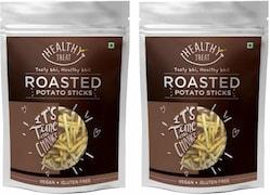 Healthy Treat Roasted Potato Sticks Namkeen (100GM, Pack of 2)