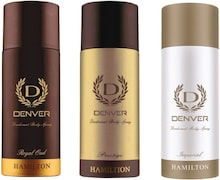 Denver Royal Oud Deodorant Spray (165ML, Pack of 3)