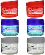 Park Avenue Rugged Hold Soft Hold Wet Look Hair Styling Gel (100GM, Pack of 6)