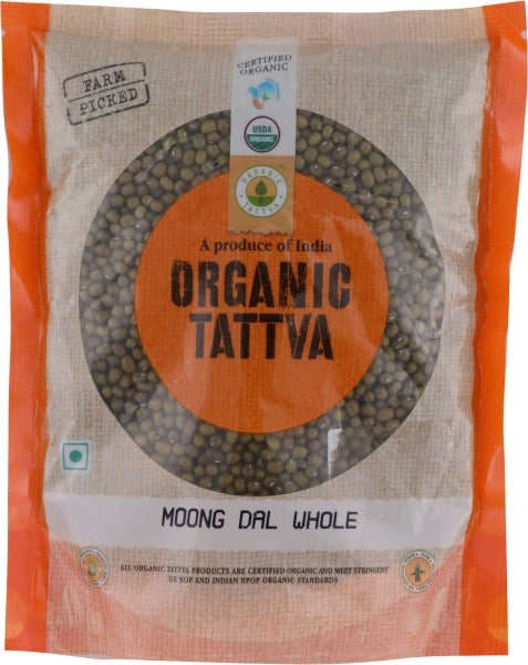 ORGANIC TATTVA Sabut Moong Dal (500GM)