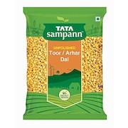 Tata Sampann Unpolished Toor Dal (Yellow, 1KG)
