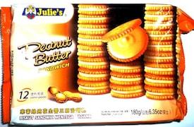 Julies Sandwich Cookies Biscuits (Peanut Butter, 180GM)