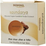 Patanjali Saundarya Mysore Super Sandal Body Cleanser Soap (450GM, Pack of 6)