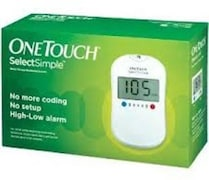 OneTouch Select Simple Glucometer (5 Strips, White)