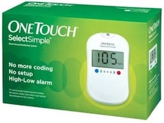 OneTouch Select Simple Glucometer (35 Strips, White)