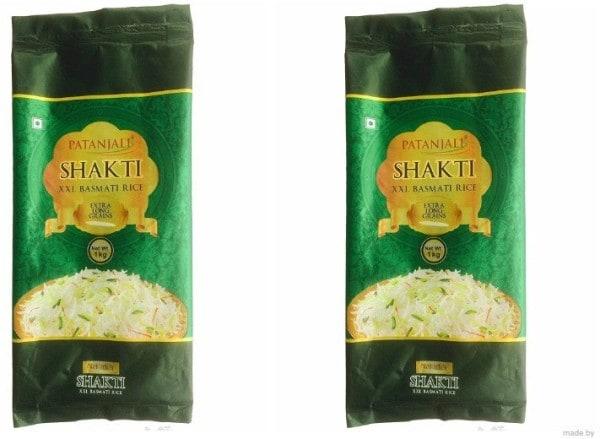 Patanjali Shakti XXL Basmati Rice (1KG, Pack of 2)