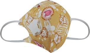 Usha Shriram Dust Protection Anti Pollution Mask (Yellow, Pack of 2)