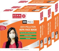 Usha Shriram Dust Protection Anti Pollution Mask (Pack of 3)