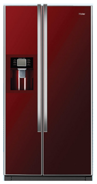 Haier 563 L Frost Free Side by Side Refrigerator (HRF663IRG, Wine Red)