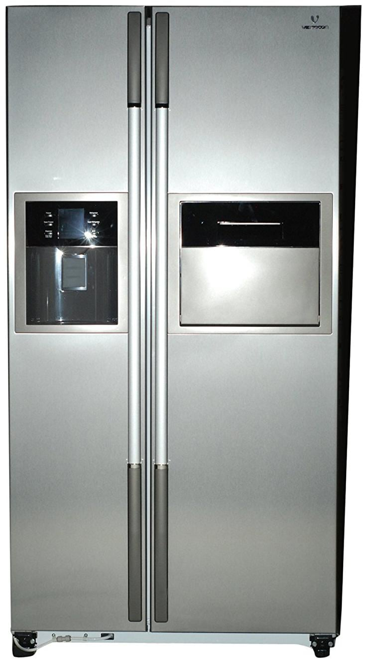 Videocon 604 L Frost Free Side by Side 5 Star Refrigerator (VPL60ZPS, Stainless Steel)
