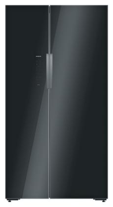 Siemens 655 L Frost Free Side by Side 5 Star Refrigerator (KA92NLB35I, Black)