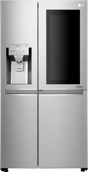 LG 668 L Frost Free Side by Side Inverter Technology Refrigerator (GC X247CSAV, Noble Steel)