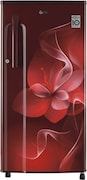 LG 188 L Direct Cool Single Door 3 Star Refrigerator (GL B191KSDX, Scarlet Dazzle)